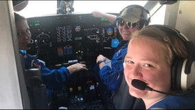 All-female flight crew flies NOAA hurricane recon mission for the first time