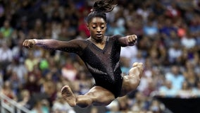 Simone Biles soars to 6th US gymnastics title, makes history with triple-double flip