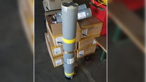 Bomb squad seizes second rocket launch tube found in luggage at BWI airport