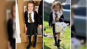 Frazzled girl's adorable back-to-school photo goes viral