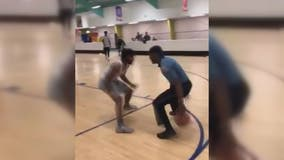 He's Got Game! Howard County police officer schools young baller in one-on-one game
