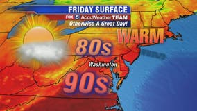 Sunny, hot and breezy Friday with isolated storms possible; beautiful weekend ahead