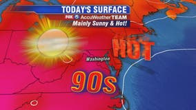 Hot and sunny Thursday with isolated storms possible later in the day