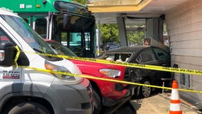 Runaway bus crashes into Arlington County building; 1 person injured