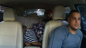Driver goes viral for coaching rider through childbirth: 'You got to breathe, Mami'