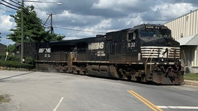 Freight train derailment shuts down portion of Industrial Road in Springfield