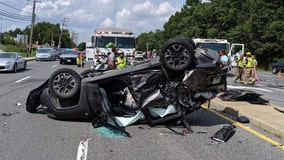 Driver pulled from scene after five-car crash in Laurel