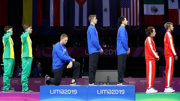 US fencer punished for kneeling on podium at Pan Am Games, other athletes warned
