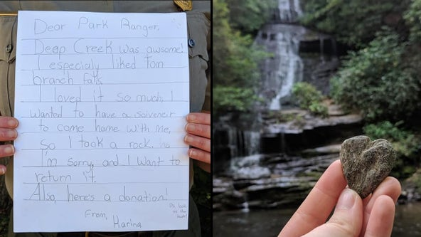Girl apologizes to National Park Service for taking a rock home, sends adorable letter