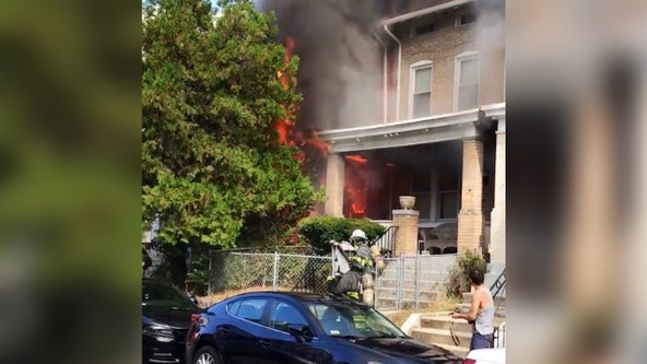 Two displaced after Columbia Heights fire