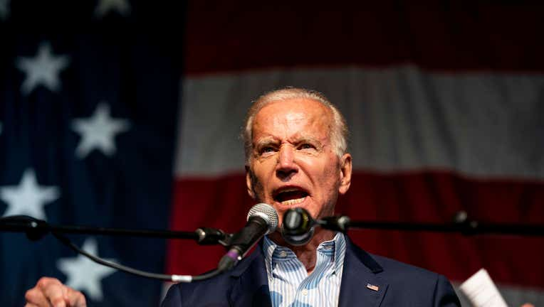 CLEAR LAKE, IOWA - August 9: 2020 Democratic candidate for President former Vice President Joe Biden speaks to Iowa voters at the 2019 Iowa Democratic Wing Ding in Clear Lake, Iowa on Friday August, 9, 2019. (Photo by Melina Mara/The Washington Post via Getty Images)