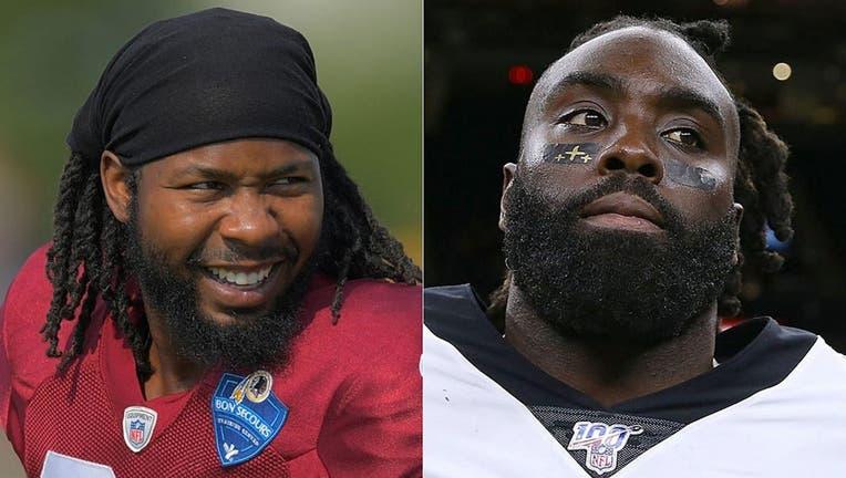 NFL players Josh Norman and Demario Davis. (Getty)