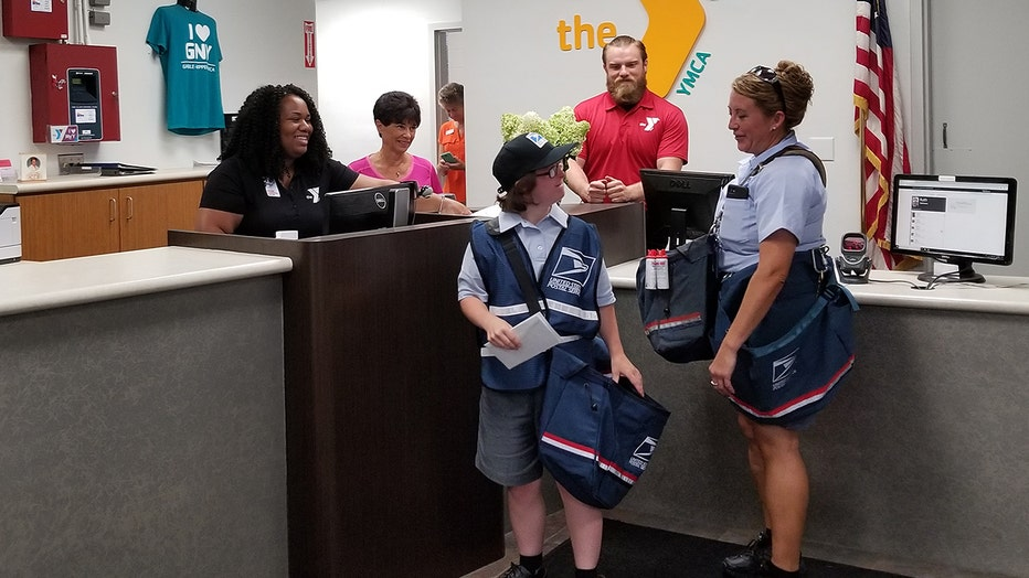 Grace Flannery got her dream job for a day when she was given the chance to join the postal team at a post office in Ohio.