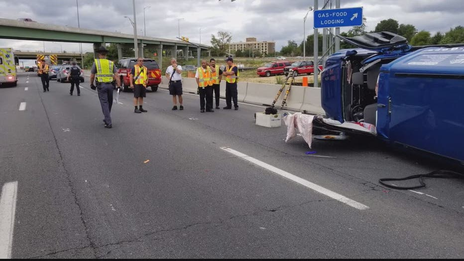 Traffic prevents emergency crews from responding to crash on