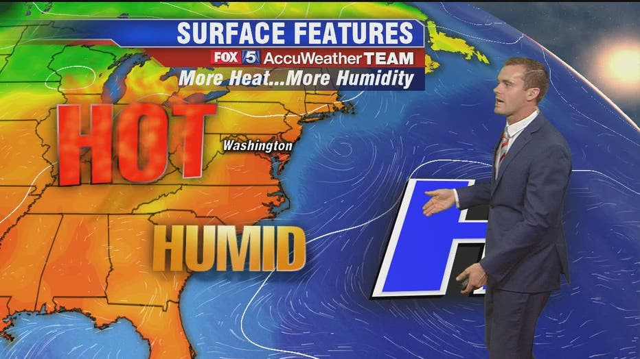 Hot, humid and chance for storms Monday afternoon and