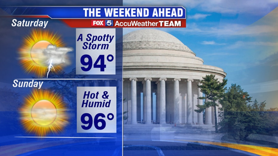 Dog days of summer set in as another heat wave eyes DC