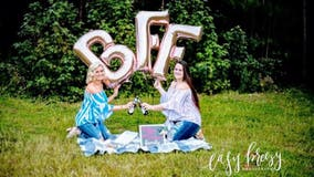 Best friends bring beer, chicken wings to photo shoot celebrating friendship