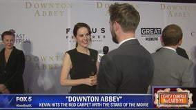 Kevin hits the red carpet with stars of 'Downton Abbey'