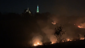 Fireworks display at Catholic University sparks large brush fire in Northeast DC, officials say