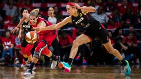 Delle Donne, Messeeman help Washington Mystics edge Las Vegas Aces in Game 1 of WNBA semifinals