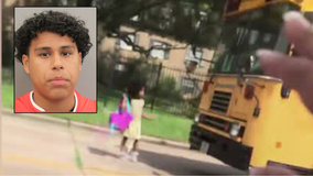 Police: Teen driver arrested for passing stopped bus, nearly hitting girl in Houston