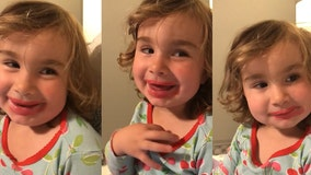 Video: Little girl, caught with lipstick, says she got it from 'Home Depot'