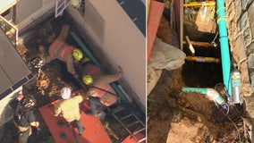 Person rescued after trapped in trench in Fairfax County