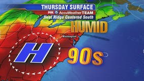 Hot, humid with temps in the mid-90s Thursday; late afternoon and evening thunderstorms possible