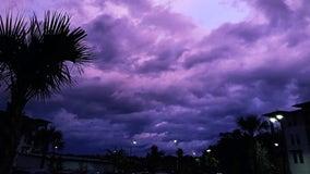 PHOTOS: Florida sky turns purple after Hurricane Dorian