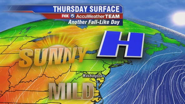 Sunny, mild and dry with highs near 75 Thursday; heat returns for weekend