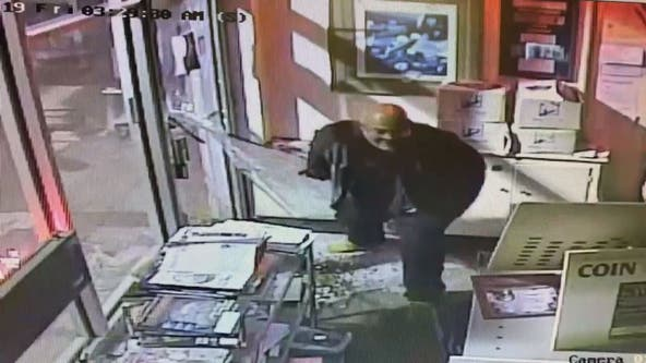 Police seek to ID suspect seen on surveillance video in coin store burglary