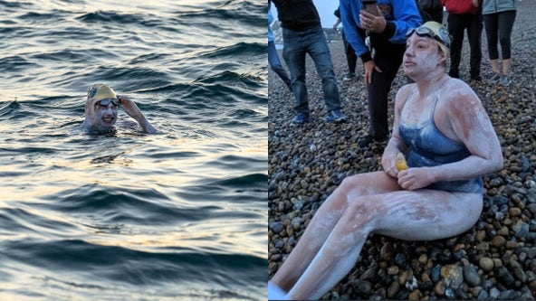 American cancer survivor becomes first to swim English Channel 4 times nonstop