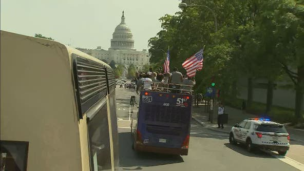 Mayor, Congresswoman lead parade pushing for DC statehood