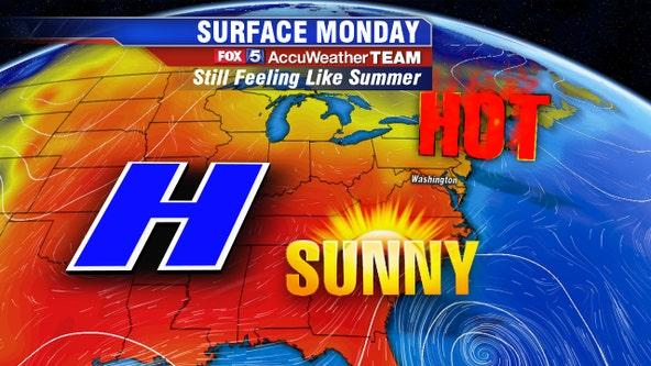 Still feels like summer with a hot, sunny Monday across DC region