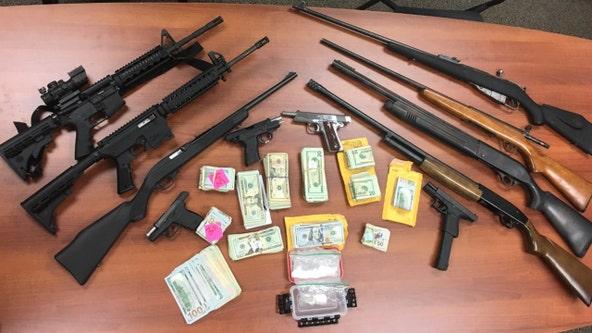 Meth, guns, cash seized in Stafford County bust