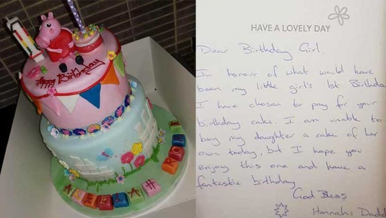 Cool Anonymous Dad Buys Cake For Strangers Niece On His Late Funny Birthday Cards Online Alyptdamsfinfo