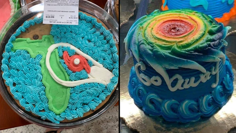 Fabulous Hurricane Dorian Themed Cakes From Publix Prompt Mixed Reviews Funny Birthday Cards Online Fluifree Goldxyz