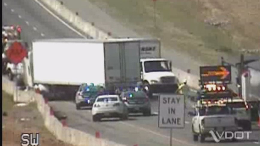 Crash involving tractor trailers creates delays on I-95 southbound in Stafford County