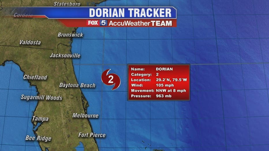 Tropical storm conditions along portions of Florida as