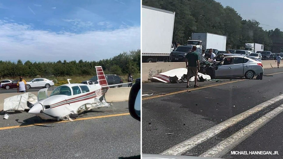 Only minor injuries reported after plane, vehicle crash on