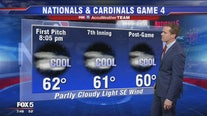 Tuesday Nationals Park forecast for Game 4 of the NLCS