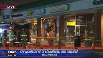 6 alarm fire damages business in Fairfax County