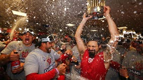 Relive the Washington Nationals victory celebration