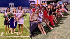 Homecoming queen candidates ditch heels to show support for epileptic classmate