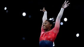 Simone Biles ties world gymnastics championship record with 23rd medal