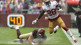 Redskins shut out in soggy Sunday loss to 49ers
