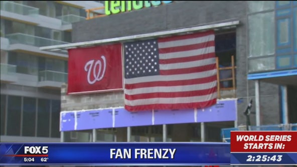 Fan frenzy at Nationals Park ahead of World Series Game 1