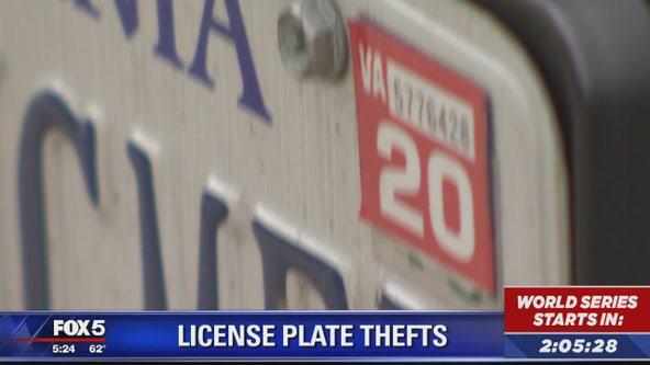 Police investigating license plate thefts in Woodbridge