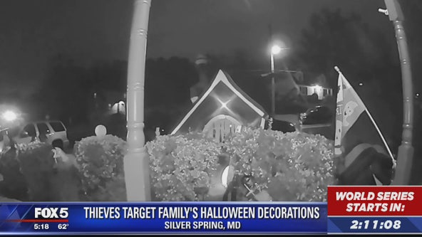 Thieves target family's Halloween decorations in Silver Spring