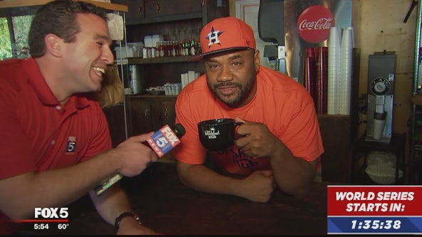 Smack talk, friendly bets as FOX 5 travels to Houston for start of World Series